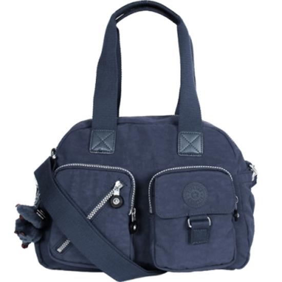 圖片 KIPLING 雙口袋肩背/斜背包-深藍 (現貨+預購)