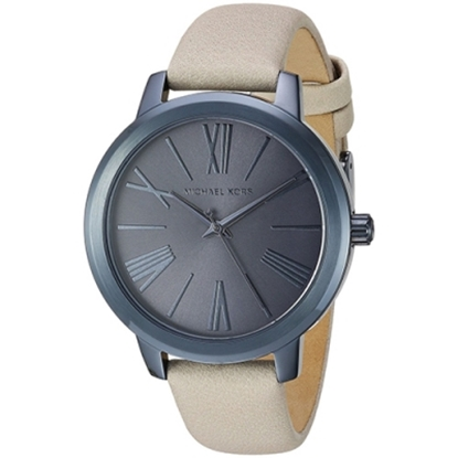 MICHAEL KORS 真皮氣質腕錶-灰(現貨+預購)