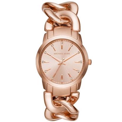 圖片 MICHAEL KORS 鎖鏈造型時尚腕錶-玫瑰金(現貨+預購)