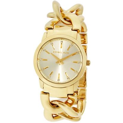 圖片 MICHAEL KORS 鎖鏈造型時尚腕錶-金色(現貨+預購)
