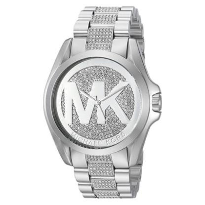 圖片 MICHAEL KORS 水晶鑲鑽不銹鋼手錶-銀(現貨+預購)