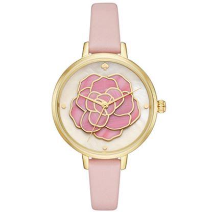 圖片 KATE SPADE 典雅立體薔薇皮革手錶-粉色 KSW1257(現貨+預購)