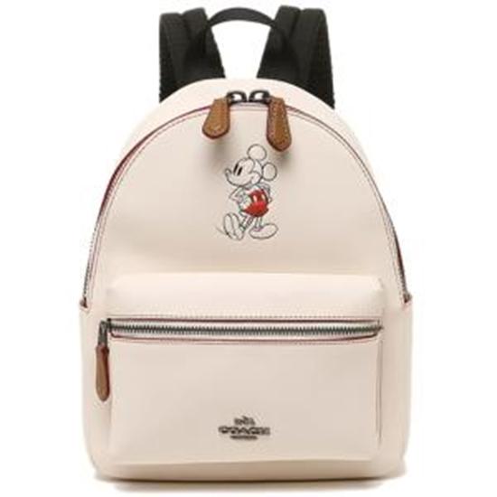 圖片 【COACH】迪士尼限量聯名款小牛皮後背包-白色(現貨+預購)