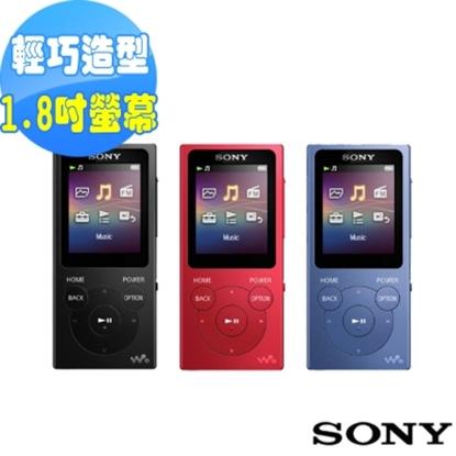 圖片 SONY Walkman 數位音樂播放器 NW-E394 8GB-紅色