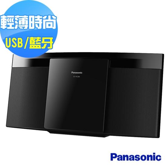 圖片 Panasonic國際牌 輕薄設計輕巧組合音響 SC-HC200GT-K