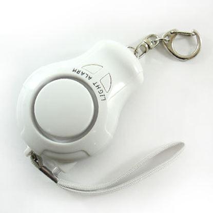 圖片 【凱騰】台灣製120分貝超強爆音附LED燈防身警報器-白(ALM-120-L-01 W)★可當包包手機吊飾鑰匙圈
