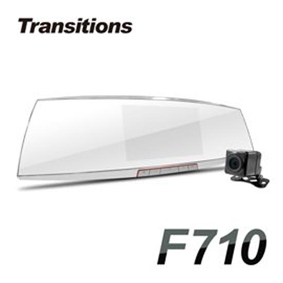 圖片 加贈32G卡 全視線 F710 聯詠96663 SONY感光元件 Full HD 雙鏡頭後視鏡型行車記錄器