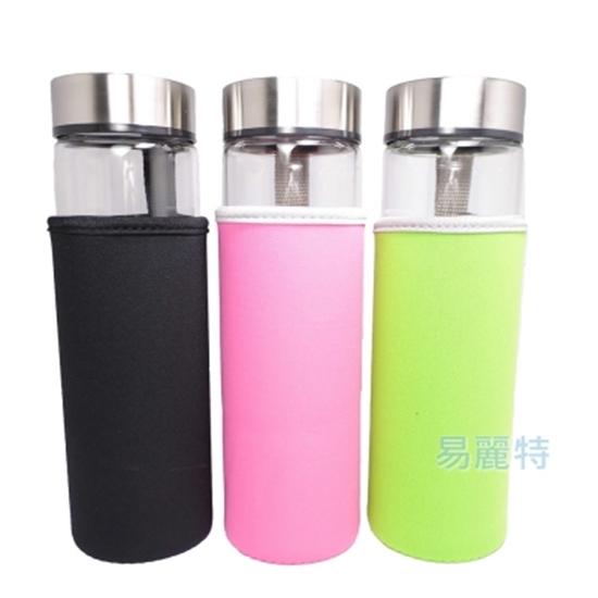 圖片 【易麗特】加大寬口耐熱玻璃隨身瓶 (2入)-可選色