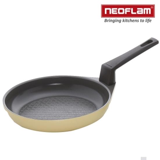 圖片 韓國NEOFLAM-黃色圓形鬆餅鍋16cm