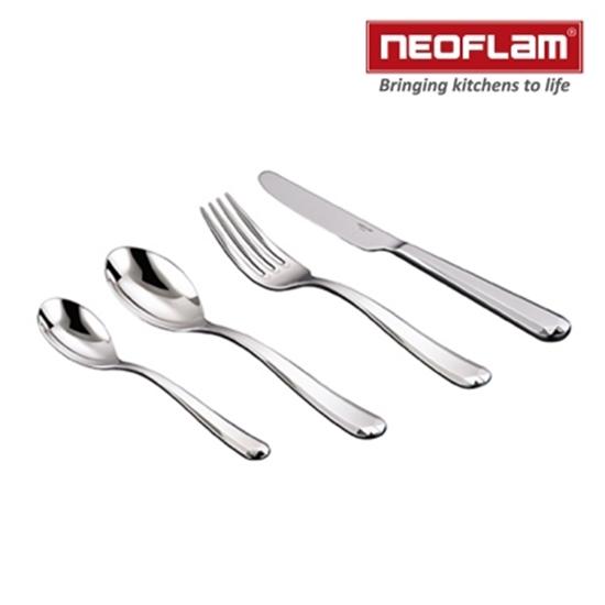 圖片 韓國NEOFLAM-Cutlery系列Carat不銹鋼餐具24件組
