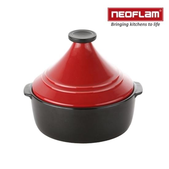 圖片 韓國NEOFLAM-Dandy系列22cm塔吉鍋-紅色