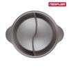 圖片 NEOFLAM 陶瓷不沾鑄造28公分鴛鴦鍋含玻璃蓋-丹麥粉(IH、電磁爐適用)