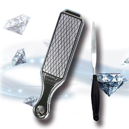 圖片 韓國原裝雙面鑽石磨刀石兩件組-電