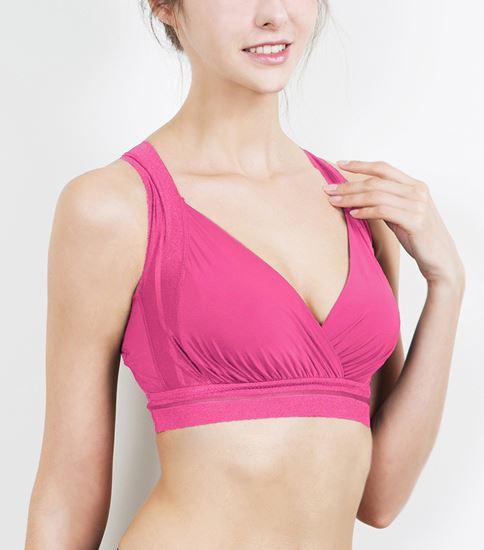 圖片 【SOFT LIGHT】「窕動美形」隱形無鋼圈胸罩-桃紅