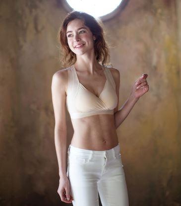【SOFT LIGHT】「窕動美形」隱形無鋼圈胸罩-膚色