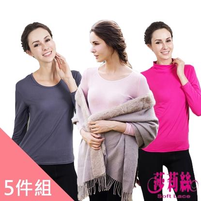 圖片 【莎莉絲】女款發熱衣福袋組(超值5件組)