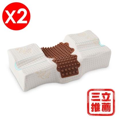 金健康MIT3D伸展減壓舒頸枕2入(枕頭)-電
