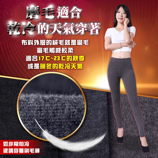 圖片 5B2F【五餅二魚】加厚磨毛~彈力內搭褲(細條紋)