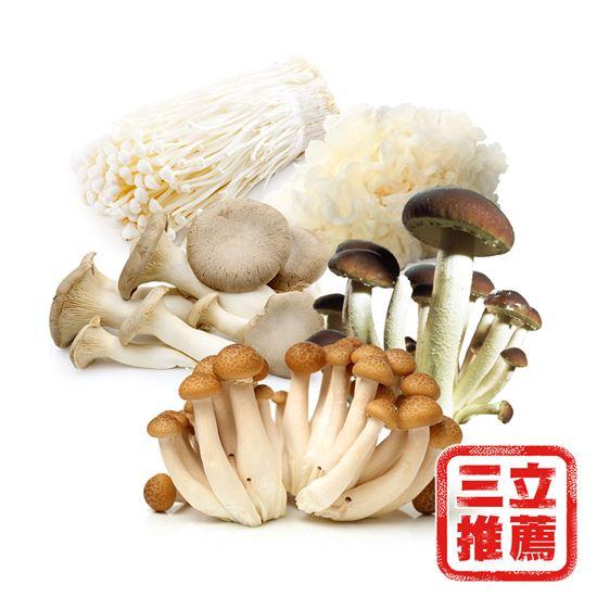 圖片 【隆谷養菇場】有機鮮採综合菇組-3KG
