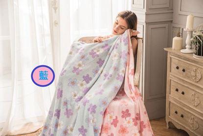 圖片 日本製純棉涼感毛巾被(藍色)