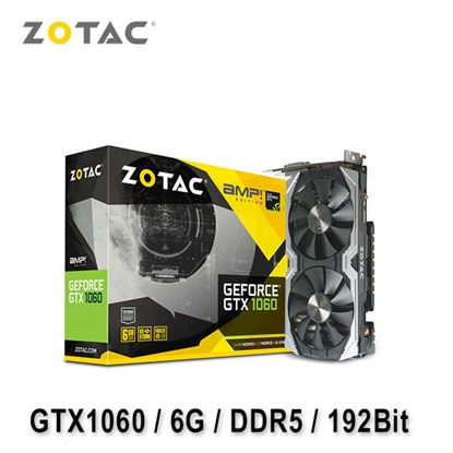 圖片 ZOTAC 索泰 GeForce GTX 1060 AMP! Edition 6G 顯示卡