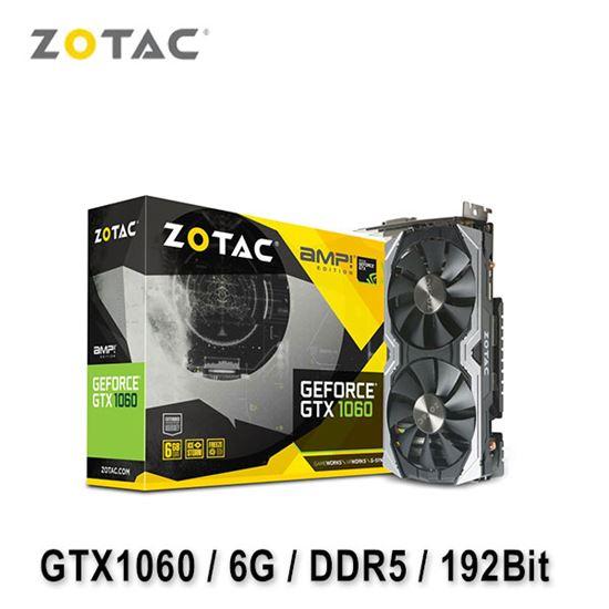 圖片 ZOTAC 索泰 GeForce GTX 1060 AMP! Edition 6G 顯示卡