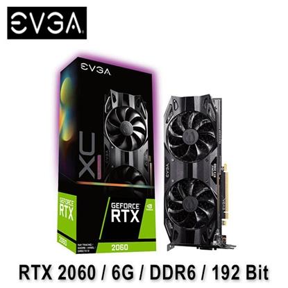 圖片 EVGA 艾維克 RTX2060 6GB XC ULTRA GDDR6 顯示卡 (06G-P4-2167-KR)