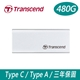 Transcend 創見 480GB SSD USB3.1/Type C 雙介面行動固態硬碟(ESD240C)