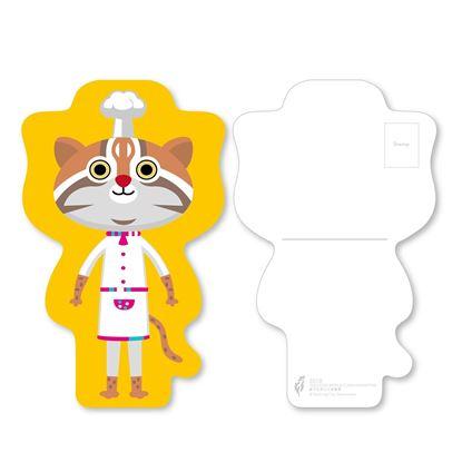 圖片 吉祥物裁形明信片/虎媽