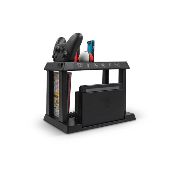圖片 Switch 第二代 多功能7合1充電座支架(主機手把遊戲夾精靈球收納)