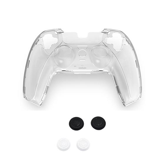圖片 【SONY 索尼】PS5 副廠5合1手把控制器水晶防摔保護殼