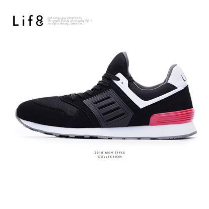 【Life8】Sport 襪套式 透氣網布 鯊魚慢跑鞋(09868)