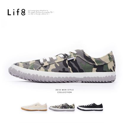 【Life8】Casual 帆布 手工底復古休閒鞋(09856)