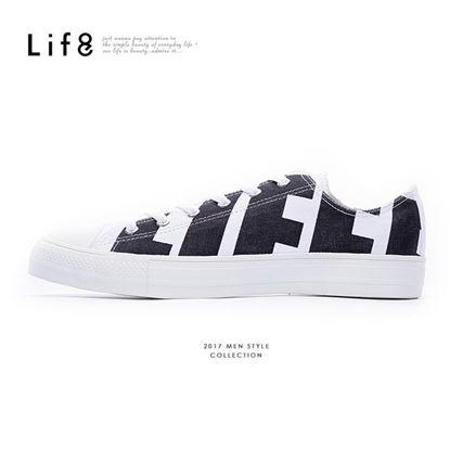 【Life8】Casual 帆布 滿版圖騰 韓風休閒鞋(09855)