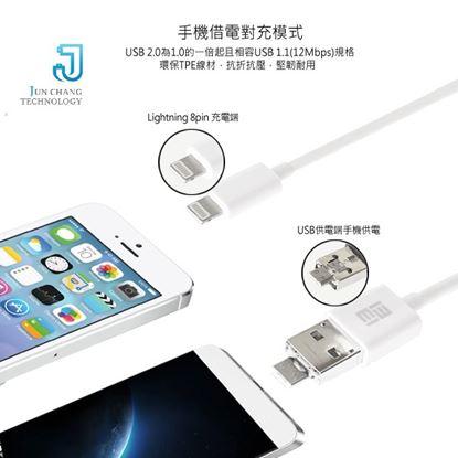 圖片 JCt iPhone6 Lightning USB 手機對充專利二合一