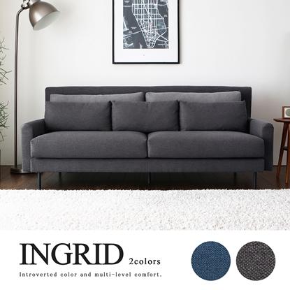 圖片 【H&D】INGRID英格利。舒適三人布沙發/2色