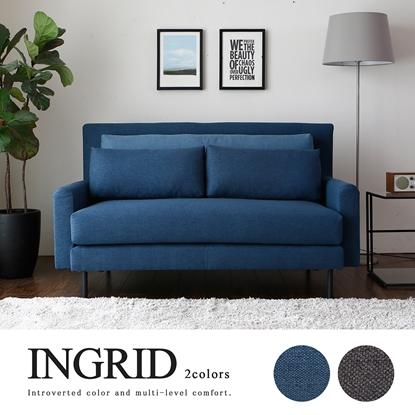 圖片 【H&D】INGRID英格利。舒適雙人布沙發/2色