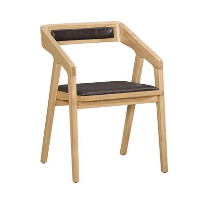 圖片 【H&D】弦旦咖啡皮餐椅/2色