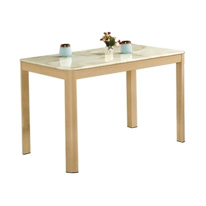 圖片 【H&D】坦菲橡木色4尺石面餐桌