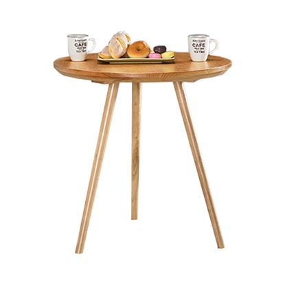 圖片 【H&D】芊迭2.3尺原木色圓桌