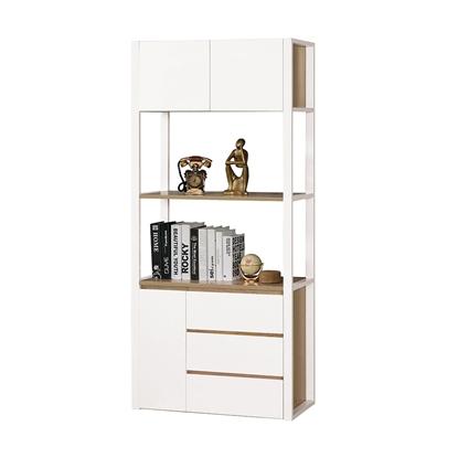 圖片 【H&D】西亞2.64尺三抽書櫃