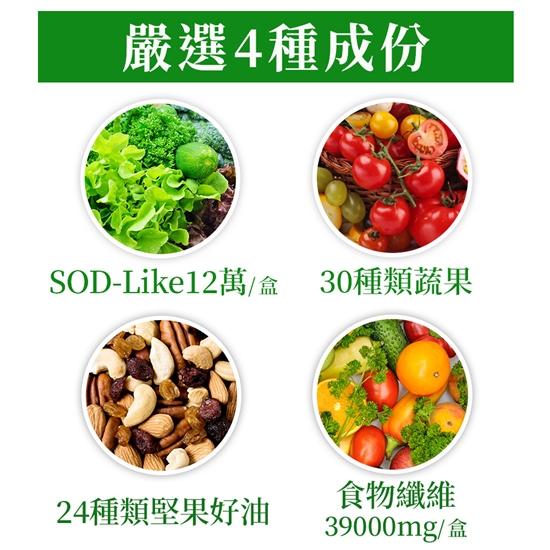 圖片 UDR綠拿鐵專利SOD酵素飲EX x3盒