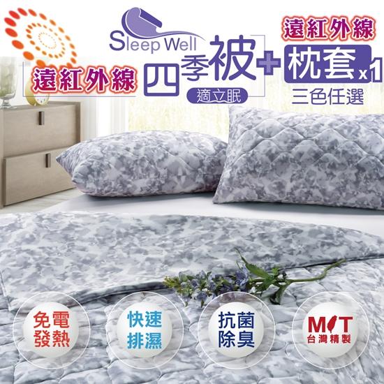 圖片 【適立眠】遠紅外線健康四季2入組-三色選購(四季被x1+枕套x1)-電