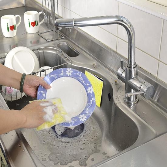 圖片 【AGL愛潔樂】神奇泡泡布萬用廚房清潔組(洗碗布、泡泡抹布、抹布、木質纖維)-電