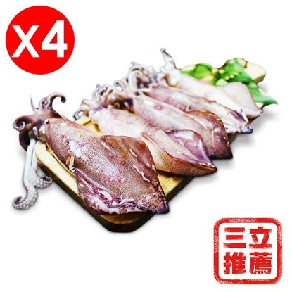 圖片 【巧食家】鮮凍熟小卷4包優惠組(360g/包)-電