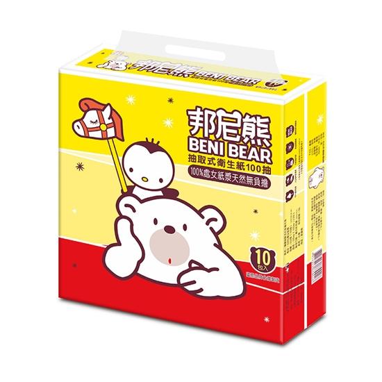 圖片 【BENI BEAR邦尼熊】抽取式衛生紙100抽10包6袋