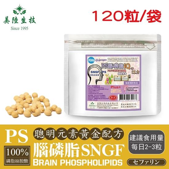圖片 【美陸生技】PS-SNGF腦磷脂 磷脂絲胺酸120粒/包