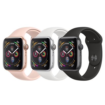 圖片 Apple Watch Series 4 44mm (GPS)鋁金屬錶殼搭配運動型錶帶
