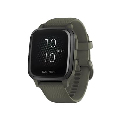 Garmin Venu SQ GPS 智慧腕錶–Music Edition - 墨綠