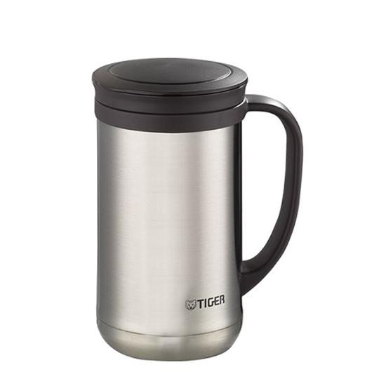 圖片 虎牌500cc茶濾網辦公室杯(與MCM-T050同款)保溫杯XC不鏽鋼色MCM-T050-XC